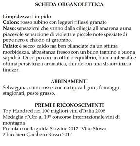 Anfosso Scheda Organolettica.art.pam